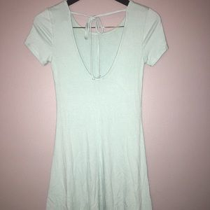 Short mint tie dress